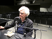 Author photo. Franco Berardi during an interview by Ràdio Web MACBA.
