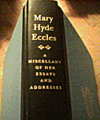 Mary Hyde Eccles: A Miscellany of Her Essays…