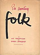 En samling folk by Alf Henrikson