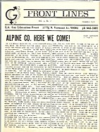 Front Lines (Issue Number One) Alpine…