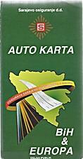 (Bosnia) BiH auto karta (map)