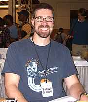 Author photo. Photo by Luigi Novi. Comic book creator Zander Cannon at the New York Comic Convention in Manhattan, October 9, 2010.