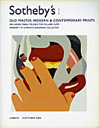 OLD MASTER, MODERN AND CONTEMPORARY PRINTS,…
