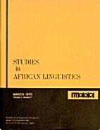 Studies in African Linguistics 1 (1970) 1:…