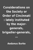 Considerations on the Society or Order of…