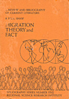 Migration theory and fact : a review and…