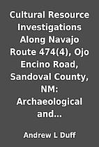 Cultural Resource Investigations Along…