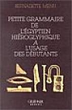 Petit lexique de l'égyptien hiéroglyphique…