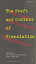 Craft and Context of Translation by William…