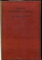 Simple Vegetarian Cookery by Paul Carton