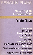 New English Dramatists 12 : Radio Plays by…