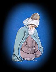 "Author photo. Jalaluddin Rumi by ""Nureddin"". Wikimedia Commons."