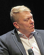 "Author photo. Picture from wikipedia <a href=""https://en.wikipedia.org/wiki/J%C3%B3n_Gnarr#/media/File:Jon-gnarr-2011-ffm-098.jpg"" rel=""nofollow"" target=""_top"">https://en.wikipedia.org/wiki/J%C3%B3n_Gnarr#/media/File:Jon-gnarr-2011-ffm-098.jpg</a> By user Dontworry"
