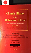 Church History and Religious Culture: Vol.…
