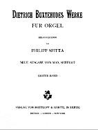 Werke für Orgel [Erster Band] by Dietrich…