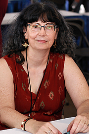 """Author photo. Author Martha Wells at the 2018 Texas Book Festival in Austin, Texas, United States. By Larry D. Moore, CC BY-SA 4.0, <a href=""""https://commons.wikimedia.org/w/index.php?curid=74221950"""" rel=""""nofollow"""" target=""""_top"""">https://commons.wikimedia.org/w/index.php?curid=74221950</a>"""