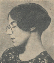 Author photo. Cropped scan of back cover of Penguin No.642 (unattributed image).