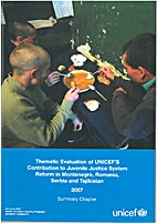 Thematic evaluation of UNICEF's contribution…