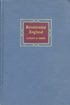 Renaissance England; Poetry and Prose From…