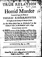 A True Relation Of A Horrid Murder Committed…