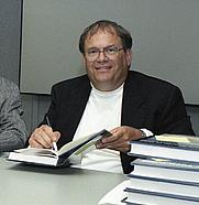 Author photo. Curtis Peebles in 2004 [credit: Tom Tschida]