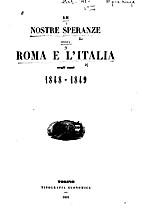 Le nostre speranze ossia Roma e l'Italia…