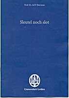 Sleutel noch slot : rede by Ad P. IJzerman