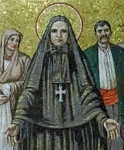 Author photo. St. Frances Cabrini mosaic, Cathedral Basilica of St. Louis. Photo by Andrew Balet / Wikipedia