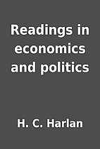 Readings in economics and politics by H. C.…