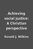 Achieving social justice: A Christian…