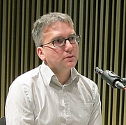 Author photo. Mark Fisher at the Barcelona Museum of Contemporary Art (2011)