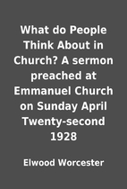 What do People Think About in Church? A…