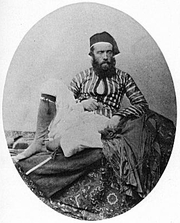 Author photo. Self-portrait for Francis Firth in Middle Eastern costume