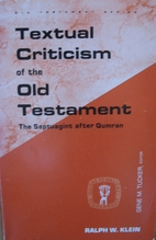 Textual criticism of the Old Testament::…