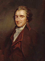 Author photo. Thomas Paine, copy by Auguste Millière, after an engraving by William Sharp, after George Romney, circa 1876 (1792).
