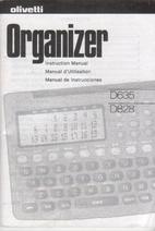 Olivetti Organizer D635/D828, Instruction…