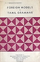 Foreign Models in Tamil Grammar by…