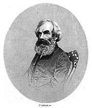 Author photo. James Backhouse. Photo by H. Adlard, frontispiece from Memoir of James Backhouse (1870)