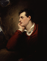 Author photo. Portrait of Lord Byron by Richard Westall