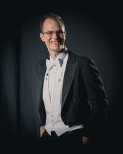 Author photo. Max Gladstone at Worldcon 75, Helsinki, before the Hugo Awards
