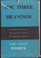 The three meanings: prayer, faith [and]…