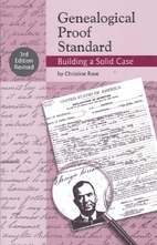 Genealogical Proof Standard: Building a…