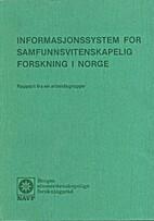 Informasjonssystem for samfunnsvitenskapelig…