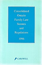 Consolidated Ontario family law statutes and…