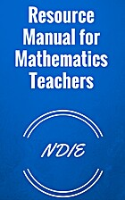 Resource Manual for Mathematics Teachers by…