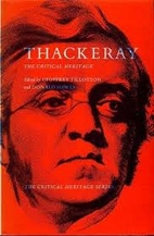 Thackeray: The Critical Heritage by Geoffrey…