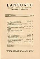 Language 60 (1984) 2: 215-481