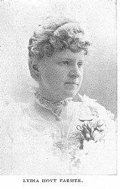 Author photo. Lydia Hoyt Farmer (1842-1903) Buffalo Electrotype and Engraving Co., Buffalo, N.Y.