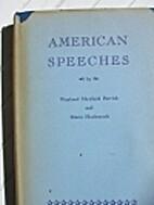 American Speeches by Wayland Maxfield…