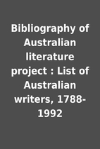 Bibliography of Australian literature…